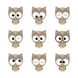 Owlet set Royalty Free Stock Images