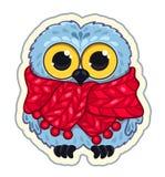 Owlet w szaliku Zdjęcie Stock