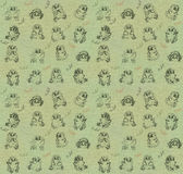 Owlets-seamless texture. Seamless texture with the image of funny owlets Royalty Free Stock Photography