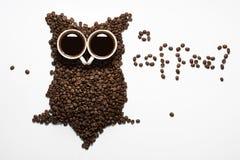 Owlowl do feijão de café Foto de Stock Royalty Free