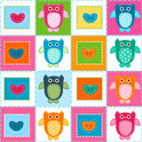 Owls background vector illustration
