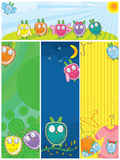 Owls Banner Set_eps Stock Images