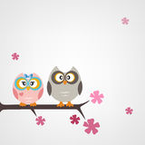 Owls card Royalty Free Stock Image