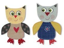 Owls, cartoon characters Stock Photo