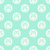 Owls cartoon pattern seamless illustration Stock Photography