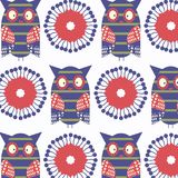 Owls colorful abstract animals background design. Vector picture vector illustration