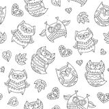 Owls for coloring Royalty Free Stock Image