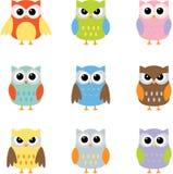 owls för konstgemfärg Royaltyfri Bild
