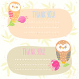 Owls frame Royalty Free Stock Image