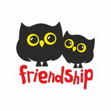 Owls friends Royalty Free Stock Image