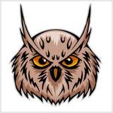 Owls head mascot. Isolated on white background Royalty Free Stock Image