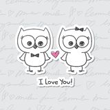 Owls in love Royalty Free Stock Image