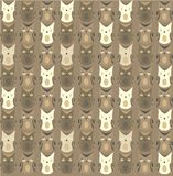 Owls pattern Stock Image
