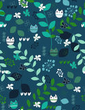 Owls pattern Stock Images