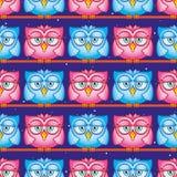 owls pattern Royalty Free Stock Photo