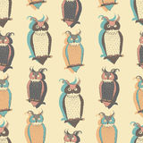 Owls pattern Royalty Free Stock Images