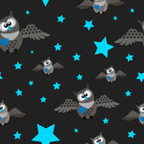 Owls pattern Royalty Free Stock Image