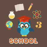 Owls school Royalty Free Stock Images