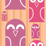 Owls seamless 3. Colorful pattern with cute owls Stock Photo