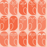 Owls seamless 2. Colorful pattern with cute owls Royalty Free Stock Photography