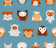 Owls seamless pattern Stock Images