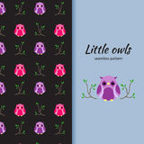 Owls seamless pattern Royalty Free Stock Images