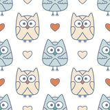 Owls seamless Royalty Free Stock Photo
