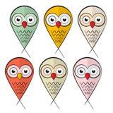 Owls Set Illustration Royalty Free Stock Image
