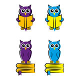 Owls. A set of owl illustrations Royalty Free Stock Image
