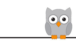 Owls are sitting on a wire Stock Photography