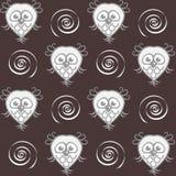 Owls and spirals Stock Photos
