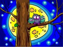 owls tre royaltyfri bild