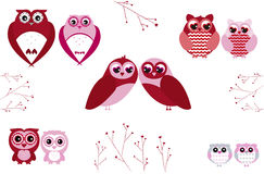 Owls Valentine´s Day Royalty Free Stock Images