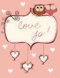 Owls_valentines Stock Image