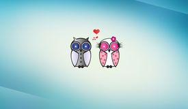Owls wedding Royalty Free Stock Images