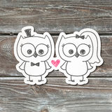 owls On wood texture Royalty Free Stock Photo