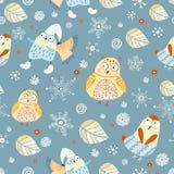owlstexturvinter royaltyfri illustrationer