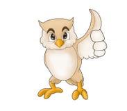 owlwhite royaltyfri illustrationer