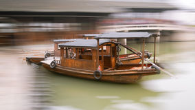 Own Boat. Wn a transport ship was formerly China's Yangtze River Delta, with the development of transportation, tourism and leisure is now views royalty free stock photography