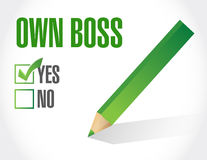 Own boss check mark illustration design Royalty Free Stock Photo