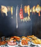 Own home smokehouse Royalty Free Stock Images