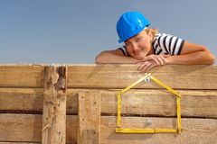 Own house dreams Royalty Free Stock Photo