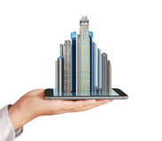 Own real estate smart phone Royalty Free Stock Image