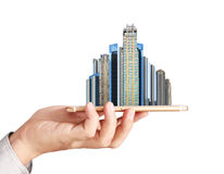 Own real estate smart phone Royalty Free Stock Photo