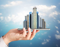 Own real estate smart phone Royalty Free Stock Photos
