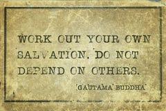 Own Salvation Buddha Royalty Free Stock Photo