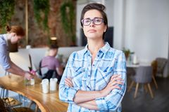 Owner of cafe Stock Image