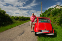 Owner with French car Stock Photography