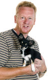 Owner with his dog Royalty Free Stock Images