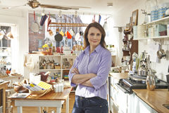 Owner Of Homeware Shop Standing In Store Royalty Free Stock Photos